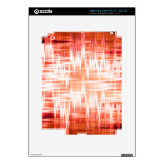 Red zigzag pattern decal for iPad 3