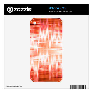 Red zigzag pattern skin for iPhone 4S