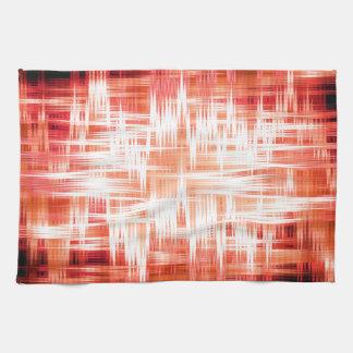 Red zigzag pattern towel