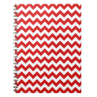Red Zigzag Stripes Chevron Pattern Notebook