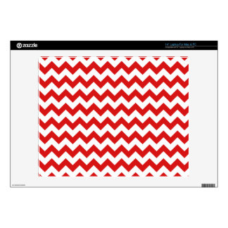 "Red Zigzag Stripes Chevron Pattern Skin For 14"" Laptop"