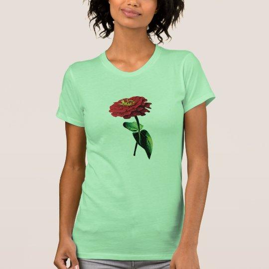 Red Zinnia in Sunshine Ladies T-Shirt