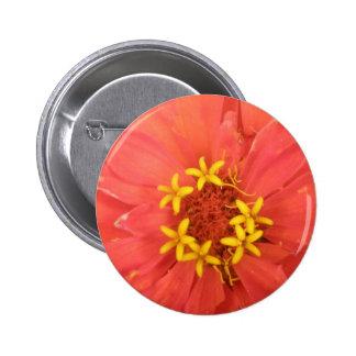 Red Zinnia Macro Button