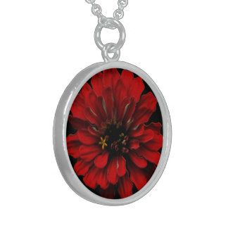 Red Zinnia Personalized Necklace