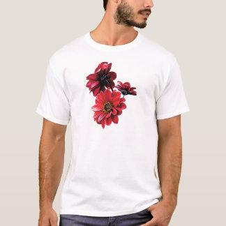 Red Zinnia Trio Mens T-Shirt