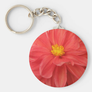 Red Zinnia Up Close Keychain