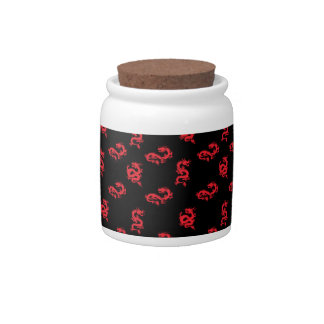 Red Zodiac Dragon Candy Dish