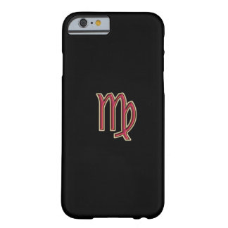 Red Zodiac Sign Virgo on Black iPhone 6 Case
