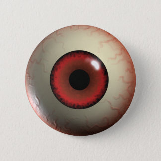 Red Zombie Eye-ball Badge Button