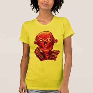 Red Zombie Skull Head T-Shirt