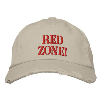 Red Zone! Embroidered Baseball Cap