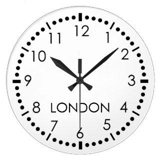 Redacción simple reloj redondo grande