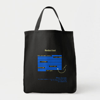 Redactado [oscuridad] bolsa tela para la compra