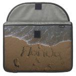 Redacte la Florida en arena de la playa con venir  Funda Para Macbooks