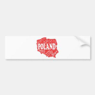 Redacte la nube con términos polacos en una forma  etiqueta de parachoque