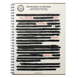 Redaction Satire Notepad Note Book