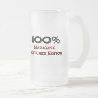 Redactor de 100 del por ciento características de taza cristal mate
