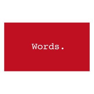 Redactor de color rojo oscuro simple moderno del e plantillas de tarjeta de negocio