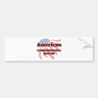 Redactor de Comisión americano Pegatina Para Auto
