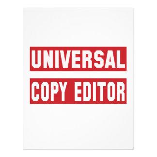 Redactor de copia universal membretes personalizados