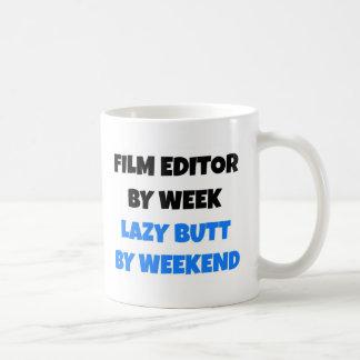 Redactor de la película por extremo perezoso de la taza