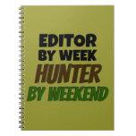Redactor del cazador de la semana por fin de seman libretas