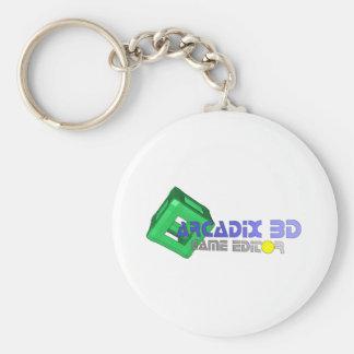 Redactor del juego de Arcadix 3D Llavero Redondo Tipo Pin