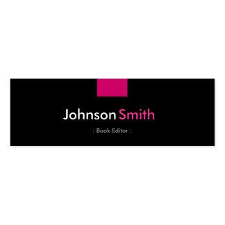 Redactor del libro - acuerdo del rosa color de ros tarjetas de visita mini
