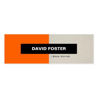Redactor del libro - elegante elegante simple tarjetas de visita mini