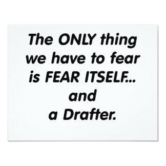 """redactor del miedo invitación 4.25"""" x 5.5"""""""
