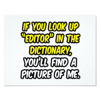 """Redactor en diccionario… mi imagen invitación 4.25"""" x 5.5"""""""