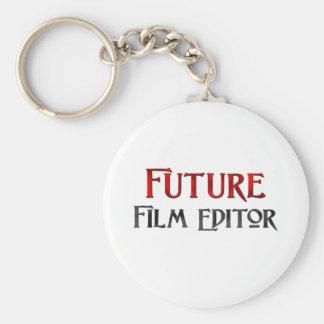 Redactor futuro de la película llavero redondo tipo pin