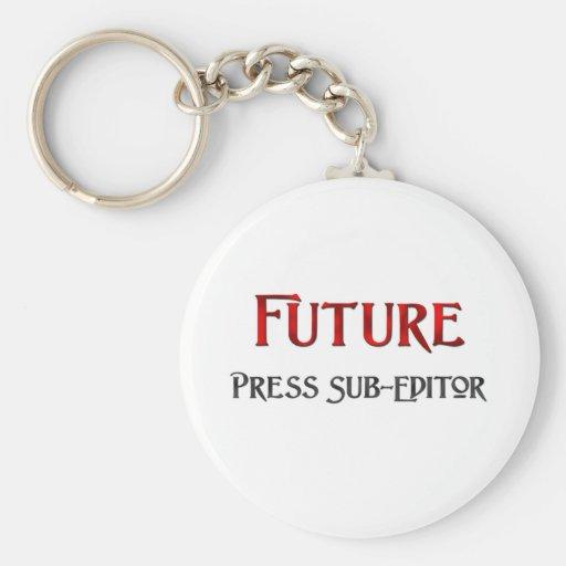 Redactor futuro de la prensa llaveros personalizados