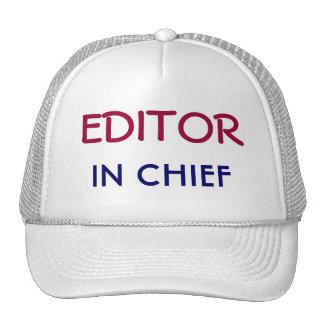 Redactor jefe gorras de camionero