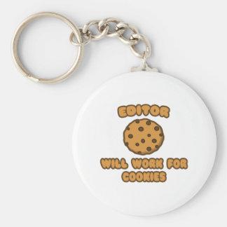 Redactor. Trabajará para las galletas Llavero Redondo Tipo Pin