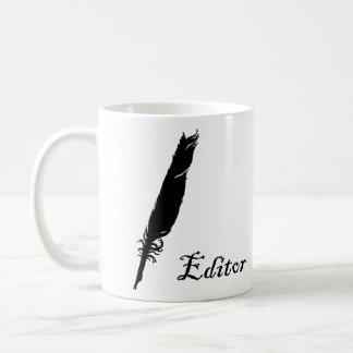 Redactor y canilla taza de café