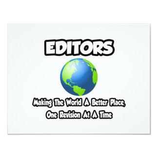 """Redactores… que hacen el mundo un mejor lugar invitación 4.25"""" x 5.5"""""""
