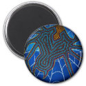 Redback Dreaming, round magnet magnet