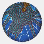 Redback Dreaming, sticker Round Sticker
