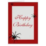 Redback Spider Birthday Card