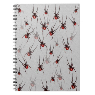 Redback spider notepad notebook