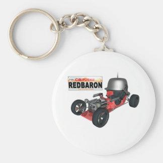 RedBaron Basic Round Button Keychain