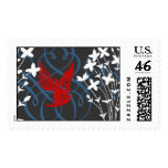 Redbird and Bluets Stamp