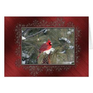 Redbird in the Snow Greeting Card