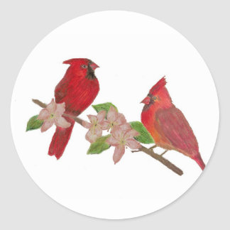 Redbirds Classic Round Sticker