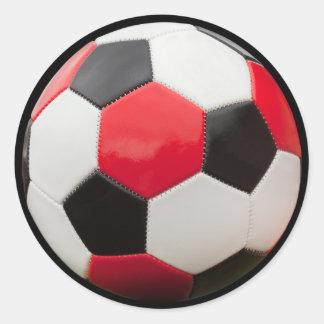 redblkwhtball sticker
