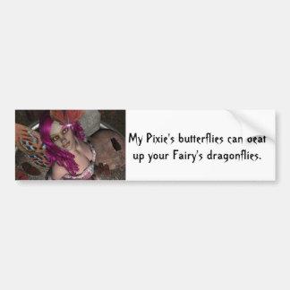 RedBlossom Butterfly Fae Bumper Sticker