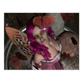 RedBlossom Butterfly Fae Postcard