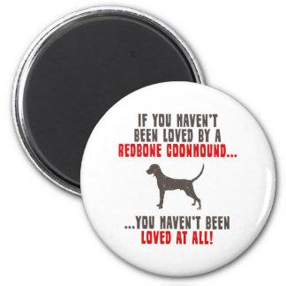 Redbone Coonhound 2 Inch Round Magnet