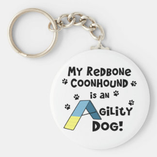 Redbone Coonhound Agility Dog Keychain